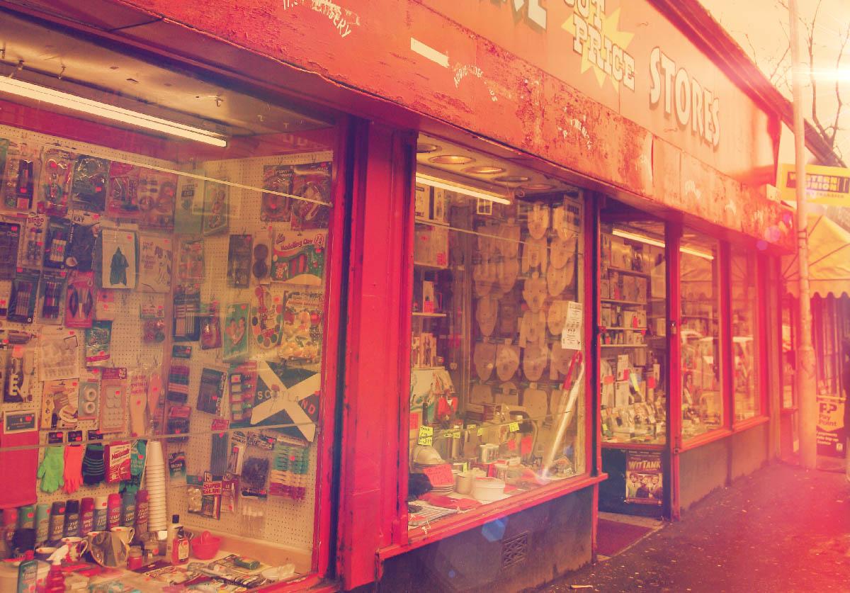 Side shot of Harry's Hardware Store in Cessnock