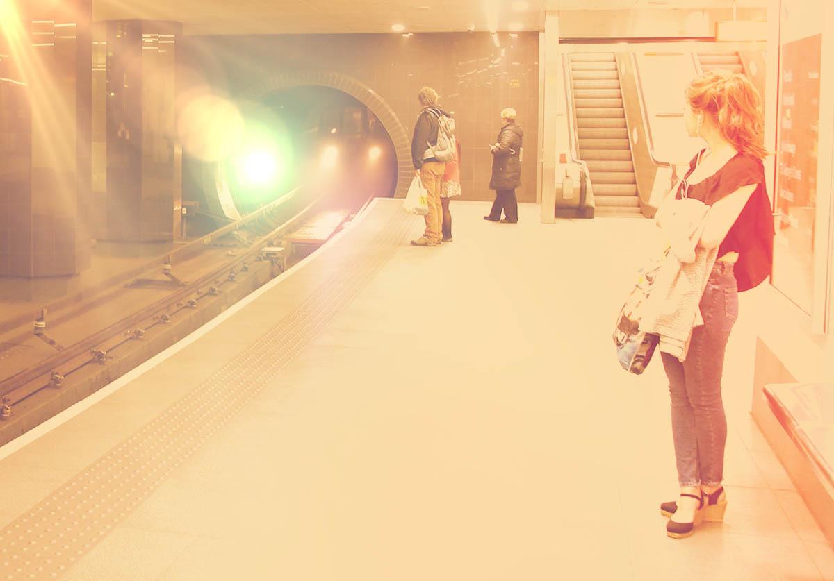 The platform at Partick Station