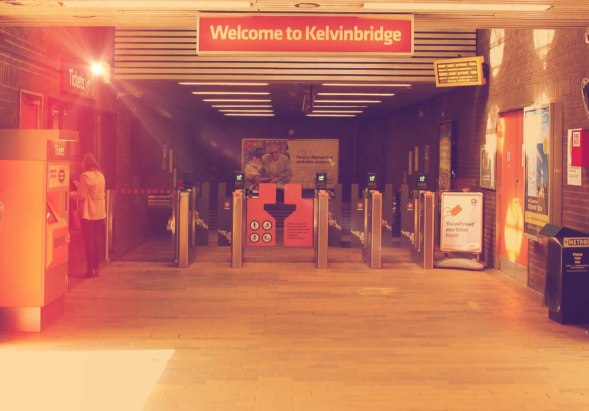 The ticket hall at Kelvinbridge Station