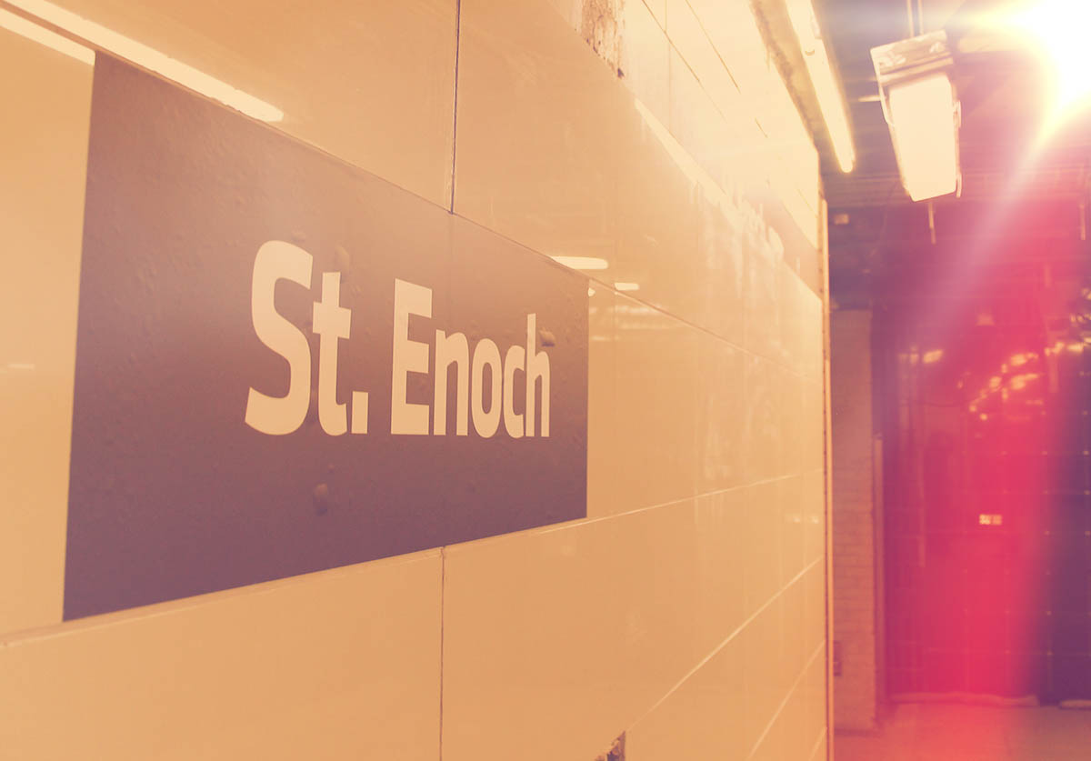 The new platform sign at St Enoch Station