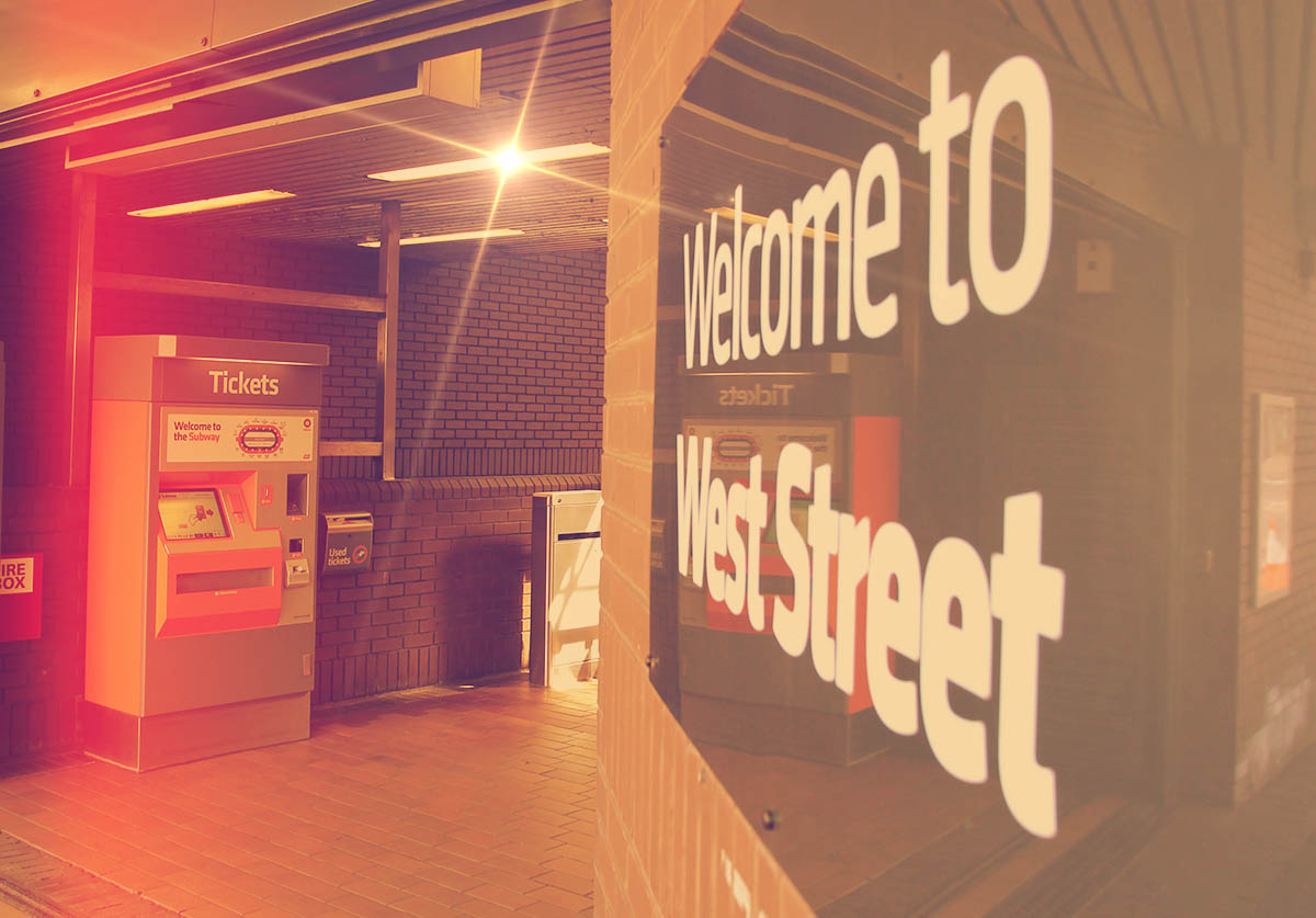 The entrance to West Street Station