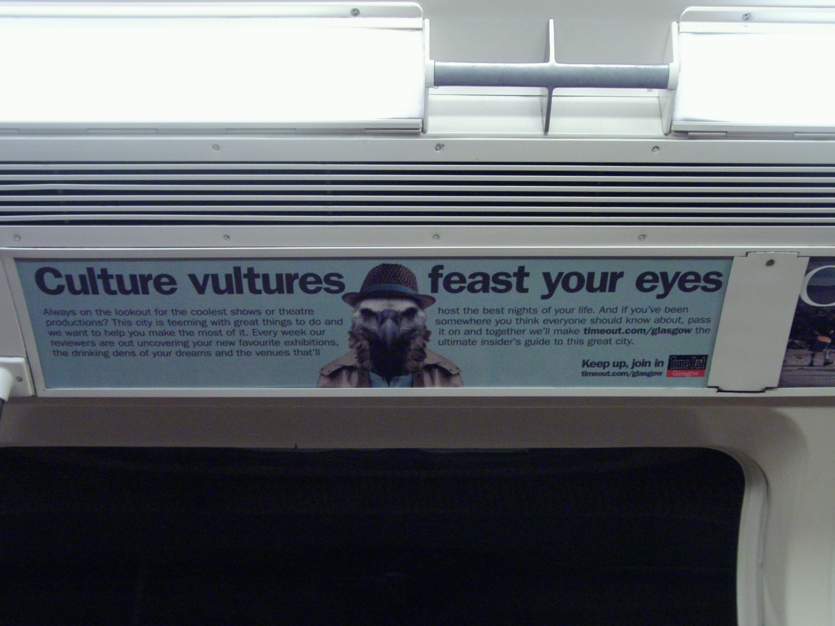 Timeout vulture subway advert