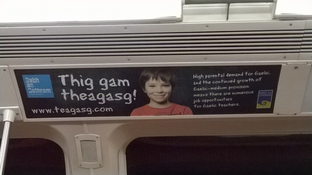 Gaelic Subway Ad
