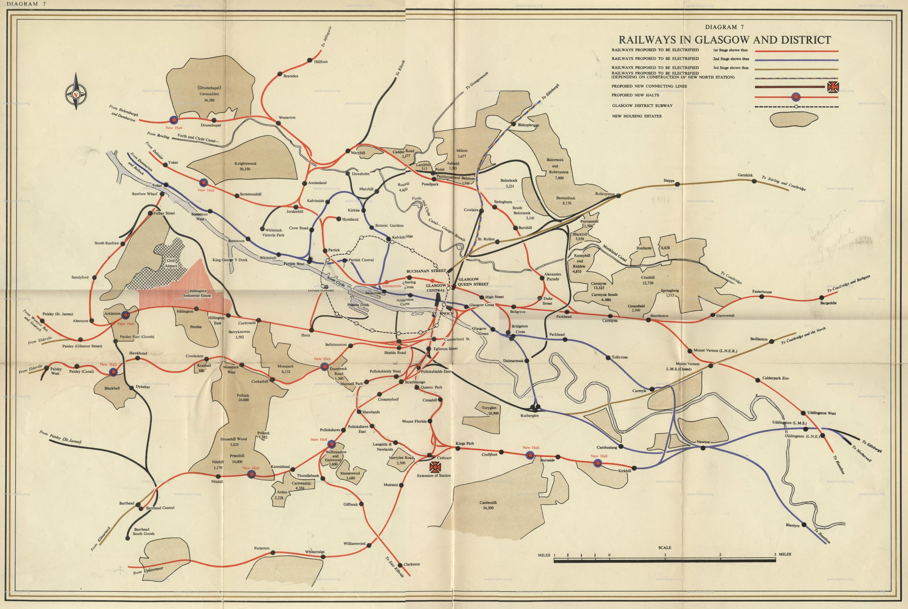 A large map of the wider Glasgow rail network in all it's glory